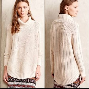 Anthropologie Angel of the North poncho sweater